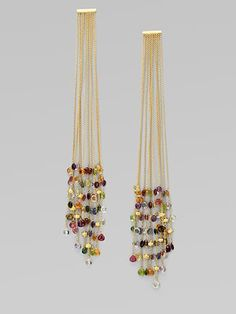 Marco Bicego: 18K Gold Semi-Precious Multi-Stone Duster Earrings
