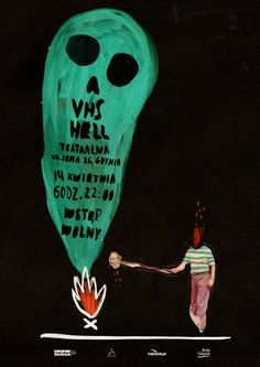 """Agata Krolak, """"VHS HELL"""" - poster promoting a b movie review"""