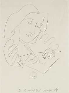 Pablo Picasso (Málaga, Spain, 1881-1973, Mougins, France), Woman drawing, 1947. Etching, drypoint on China paper. Meadows Museum Modern and Contemporary Artists