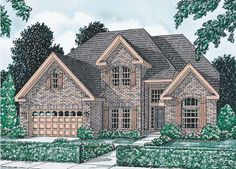 Traditional Style House Plans - 2755 Square Foot Home , 2 Story, 4 Bedroom and 2 Bath, 3 Garage Stalls by Monster House Plans - Plan 11-113