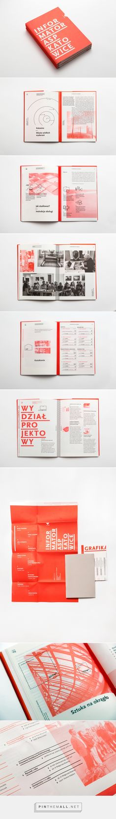 Informator ASP Katowice / Guide on Behance - created via https://pinthemall.net