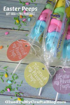 Easter Peeps - Gift Idea & Free Printable