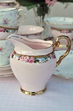 Pink cream pitcher