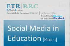 Report on Social Media in Education (Part 1)[Facebook and Twitter] - EdTechReview #socialmedia #edtech #educators #teachers #students #edtechreview #fb #twitter #education #techineducation Use Of Technology, Educational Technology, Helping People, Insight, Language, Teacher, Social Media, Facebook, Learning