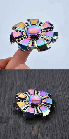 Colorful Focus Toy Wheel Shape Finger Gyro
