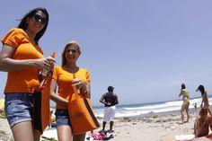 Laboratorios Bioderma cuidando la piel de todos los asistentes al 4to Campeonato Nacional Universitario de Surf