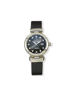 LUST: Omega stainless-steel-and-leather watch with diamonds, $7,950