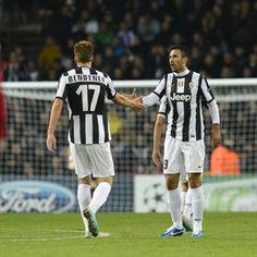 Mirko Vucinic & Nicklas Bendtner, Juventus.   FC Nordsjaelland 1-1 Juventus. 23.10.12