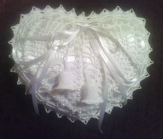 Crochet Satin Ring Bearers Pillow mama Pinterest Satin