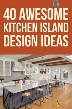 40 Awesome Kitchen Island Design Ideas (Modern Decor & Layout) Add more precious countertop space and storage to your kitchen with these best kitchen island ideas and designs. From modern and luxury designs to farmhouse styles, open concept kithcen island, small kitchen island with seating and bench, sink, stove, and lightings. #kitchenideas #kitchenislandideas #kitchendecor<br> Images Of Kitchen Islands, Rustic Kitchen Island, Kitchen Island With Seating, Farmhouse Style Kitchen, Kitchen Colors, Kitchen Design, Kitchen Decor, Kitchen Ideas, Distressed Kitchen