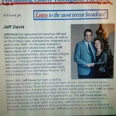 Jeff Davis Show  Nationally Syndicated Radio Host  1996 - 2003