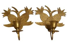 Brass Pineapple Candleholders by The Onyx Sheep Richmond Virginia, via Behance
