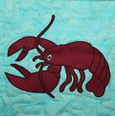 Lobster PDF applique pattern; crustacean quilt pattern; ocean animal quilt pattern; ; baby quilt pattern; kid's quilt; reef explorer quilt by MsPDesignsUSA on Etsy