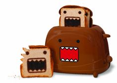 Never eat boring bread again with Pangea Brand's Domo Toaster. Bring your favorite Japaneese character to breaksfast, lunch or dinner. This automatic toaster is the perfect addition to any kitchen. Compact two slice toaster with cool-touch housing. R Cool Stuff, Funny Stuff, Random Stuff, Interesting Stuff, Kitchen Items, Kitchen Gadgets, Kitchen Products, Kitchen Stuff, Kitchen Supplies