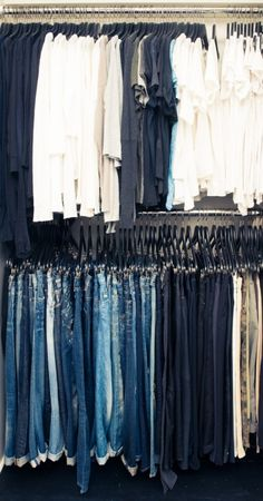 "Stacey Todd | The Coveteur -- clearly this is what my closet of ""uniforms"" would look like, if actually organized."