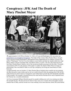 Conspiracy: JFK And The Death of Mary Pinchot Meyer INFOWARS.COM BECAUSE THERE'S A WAR ON FOR YOUR MIND