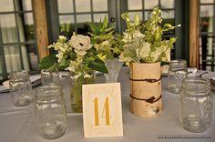 Rustic Chic Elegant Mason Jar Candle Votives and Centerpieces - Zinke Design - The French Bouquet - Fotografie Sturm