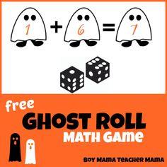Teacher Mama: FREE Ghost Roll Math Game for Halloween