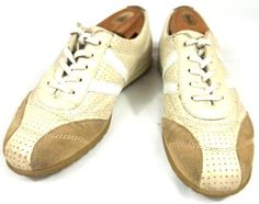 Ecco Shoes Womens Size US 10 10.5 M EUR 41 Beige Leather Fashion Sneakers #ECCO #Fashion