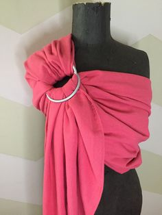 A personal favorite from my Etsy shop https://www.etsy.com/ca/listing/294581523/double-layer-ring-sling-linen-rayon