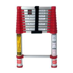 10.5 ft Aluminum Telescoping Extension Ladder with 225 lb. Load Capacity