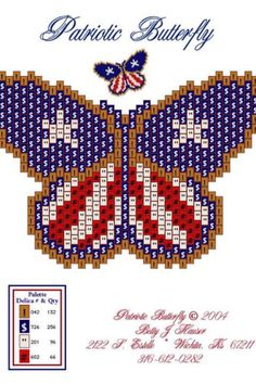Patriotic Butterfly - Made three of these, very easy!