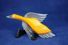 Bakelite & Lucite Flying Duck Brooch Pin - RARE!!!! On SALE!!! | SoVintageous - Jewelry on ArtFire