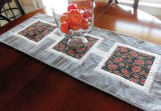 Modern Fall Quilted  Table Runner by homesewnbychristine on Etsy, $36.00