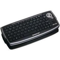 Iogear 2.4ghz Wireless Compact Usb Keyboard With Optical Trackball & Scroll Wheel (pack of 1 Ea)