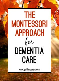 Finding activities that people living with dementia are able to participate in and enjoy can be challenging. The Montessori for dementia approach seeks to engage the senses and evoke positive emotions. It involves stimulation of the cognitive, social, and functional skills of each individual.