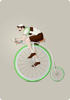 Avec sa série intituléeEl barbero bicicletero y otras bicis insólitas, l'illustrateur espagnolIbai Eizaguirre Sardonimagine desconcepts de vélos ét
