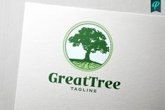 GreatTree Logo Design Templates An Premium Logo Template was crafted with fine attention to details. Suitable for Company Logo and P by PenPal Graphic Design Software, Logo Design Template, Logo Templates, Business Brochure, Business Card Logo, Landscaping Logo, Tree Logos, Leaf Logo, Real Estate Logo