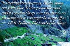"""A quote about adventure from """"The Lord of the Rings""""   SweetSomewhere.com"""