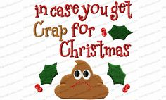 Crap for Christmas Toilet Paper Embroidery Design is optimized to stitch well on toilet paper. For a gag gift add a little plastic wrap or tulle and a bow.