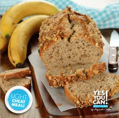 Enjoy a delicious banana bread, a recipe that follows the traffic light diet.