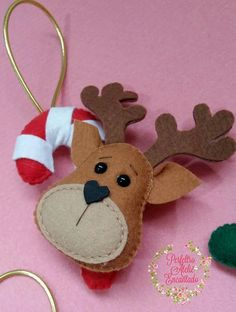 Pin by Carol Millette on Christmas decorations Christmas Crafts For Adults, Felt Christmas Decorations, Christmas Ornament Crafts, Etsy Christmas, Christmas Sewing, Felt Ornaments, Holiday Ornaments, Christmas Projects, House Decorations