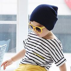BACK TO SCHOOL SALE  $7.49 Kids Hipster Striped Tee Shirt with Yellow Zipper Pocket SALE!! KIDS HAREM PANTS