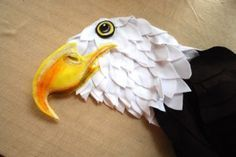 Ask Holly: A No Sew Bald Eagle Costume - Barista Kids|Barista Kids --love the detail of the beak and head feathers