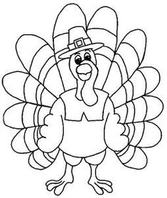 Thanksgiving Printable Coloring Turkey Art for Kids - Clip Art, Activity Pages - Kaboose.com