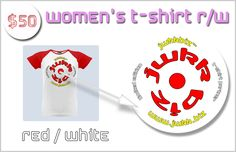 Tiles of The Simpsons as mobile app   Indiegogo WOMEN'S T-SHIRT - RED and WHITE WITH OUR LOGO JWkkBiz™