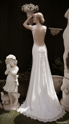 naama anat fall 2016 bridal dresses beautiful sheath wedding dress invisible strap v neckline lace embroidery bodice style harmony low back