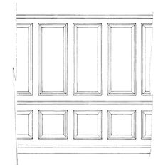 Gerogian Wall Panel - Tall height