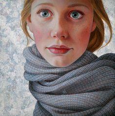 Jantina Peperkamp - Sjaal. Acrylic on...