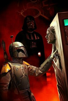 The Empire Strikes Back Episode V: A scene right after Darth Vader froze Han Solo in carbonite and gave him to Boba Fett to return him to Jabba The Hutt for a bounty.
