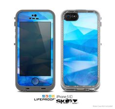 The Blue Abstract Crystal Pattern Skin for the by TheSkinDudes, $9.99