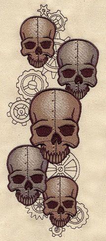 Embroidery Designs at Urban Threads - Clockwork Skulls