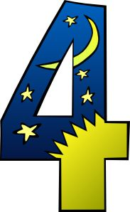 Creation Day 4 Number clip art
