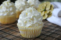 Cupcake Recipes From Scratch | Lemon Cupcakes- the best white cake batter from scratch with a hint of ...