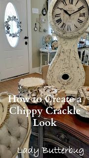 HOW TO CREATE A CHIPPY CRACKLE LOOK | Artisan Enhancement Crackle Tex | Chalk Paint® by Annie Sloan | at Lady Butterbug