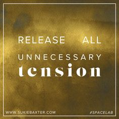 Release all unnecessary tension.  A little #SpaceLab wisdom to remind you that how you move your body is how you move through life.